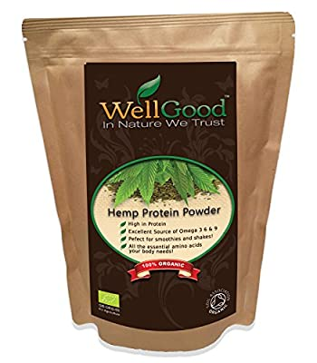 Pure Organic Raw Hemp Seed Protein Powder (50% Protein) by WellGood