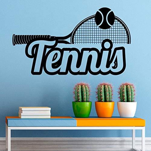 Deportes tatuajes pared tenis logo vinilo etiqueta