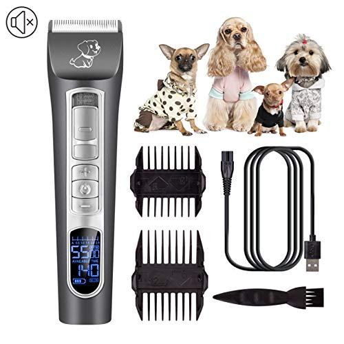 CHJPRO Schermaschine für Hunde Tierhaarschneider Profi Haarschneidemaschine Haarschneider Hunde und Katze, Leise Elektrische Trimmer Haustier Grooming Clipper Kits -