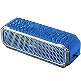 Tragbarer kabelloser Bluetooth Lautsprecher, COMISO IP65 Wasserdichte Außenlautsprecher 4.0 mit 15 Stunden Spielzeit, eingebautes Mikrofon, Tiefe Bässe und lauter Stereo-Sound, Blau