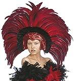 Accessorio Costume Carnevale Brasiliano, Copricapo Piume Brazil *19660-rosso