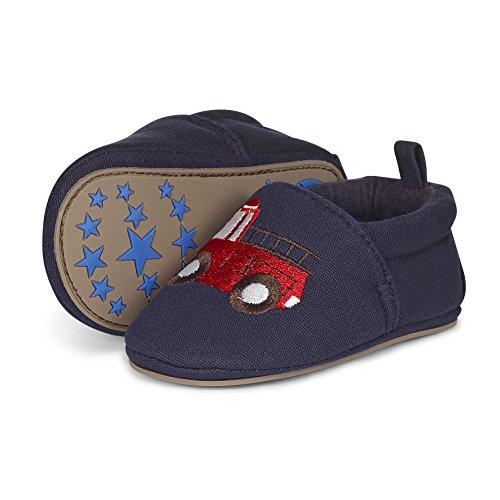 Sterntaler Baby Jungen Krabbelschuhe, Blau (Marine), 19/20 EU (Marine-blau-jersey Drucken)