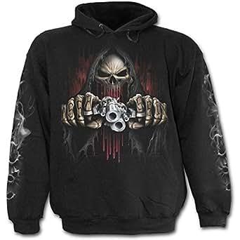 Spiral Direct - Sweat-shirt à capuche -  Homme -  Noir - Noir - moyen