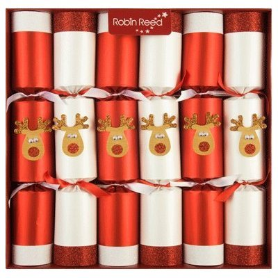 6 Rudolph the Red Nosed Racing Reindeer Christmas Crackers