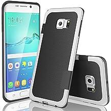 Funda Samsung Galaxy S6 Edge, HanLuckyStars, TPU Funda Carcasa para Galaxy S6 Edge, Carcasa Galaxy S6 Edge Funda con [Ultra Fina][Anti-Arañazos][Anti-Choques][Garantía de por vida](Negro)