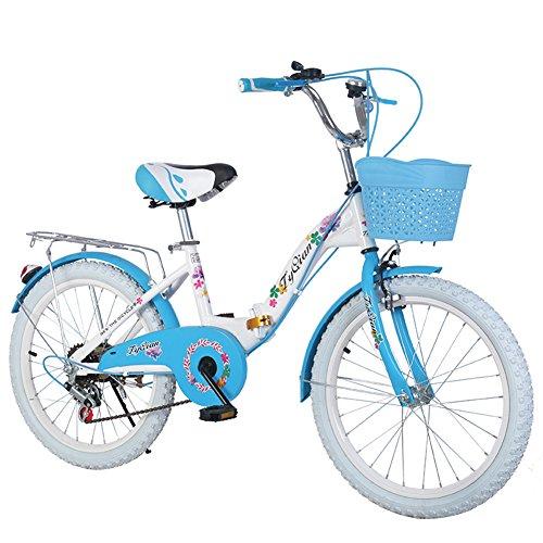 """JCOCO Kinder Falten Fahrrad-Variable Geschwindigkeit 20/22 Zoll 8-9-10-11-12-14 Jahre alte Jungen und Mädchen-Schüler-Fahrrad (größe : 22\"""")"""