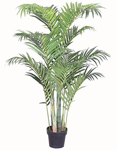 PASAMO 06996 Areca Palme, Goldfruchtpalme, Echtholzstamm, Kunstpflanze 125cm