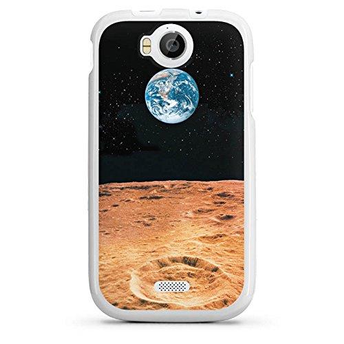 DeinDesign Wiko Cink Peax 2 Hülle Silikon Case Schutz Cover Erde Mond Moon View