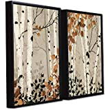 Art Street Floral Theme Framed Canvas Painting Set Of 2 Wall Art Print-13x17 Inch