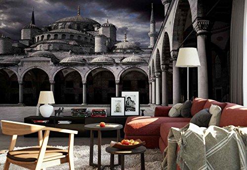 Vlies Fototapete Fotomural - Wandbild - Tapete - Dame Moschee Bögen Cupolas - Thema Architektur - L - 254cm x 184cm (BxH) - 2 Teilig - Gedrückt auf 130gsm Vlies - 1X-115634V4