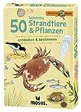 moses. Expedition Natur - 50 heimische Strandtiere und Pflanzen| Bestimmungskarten im Set | Mit spannenden Quizfragen