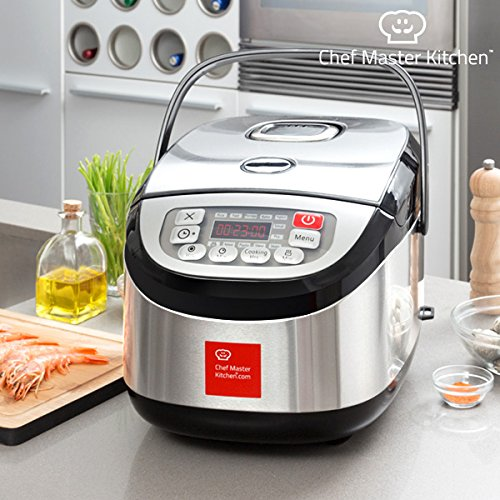 Chef Master Kitchen - Robot de Cocina Chef Master Kitchen Inox Cook 1,8 L 900W Negro acero