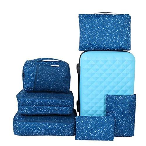 MKXI® Reisegepäck Organizer Taschen Kofferorganizer, 6 Set Kleidertaschen Packtaschen Reisetaschen Verpackungs Würfel Grün