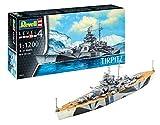 Revell 05822 Spielzeug Modellbausatz, Schiff 1:1200-Tirpitz, Level 4, orginalgetreue Nachbildung mit vielen Details-05822