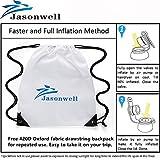 Jasonwell®Riesiger aufblasbarer Pegasus Pool Floß mit speziellen schnell Ventilen. - 7