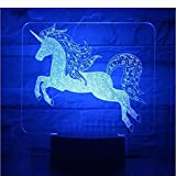 3D Illusion Night Light bluetooth Smart Control 7 & 16M Color Mobile App Led Vision Giocattolo ottico Bambini Bambini Decorazione per la casa Regalo creativo colorato