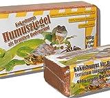 6 x 650 grams of Coconut Litter for Reptiles, Terrarium Substrate, Terrarium Bedding, Ground Coconut, Soil, Coconut Fibre, Coconut Ground, Humus, Coconut Brick, Coconut, Coir Briquettes, Coconut Briquettes - Fine