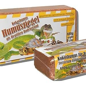 6 x 650 grammes de litière en noix de coco fond pour terrarium des reptiles fond en noix de coco humus de noix de coco briques à la noix de coco fibres à noix de coco briques en noix de coco -fin-