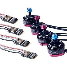 SunFounder Quadcopter Kit Motor ESC Combo, 2 Pairs CW CCW 2205 2300KV + 4 PCS Upgrade BLHeli 20A ESC for 180 210 250 RC Quadcopter Drone Multirotor