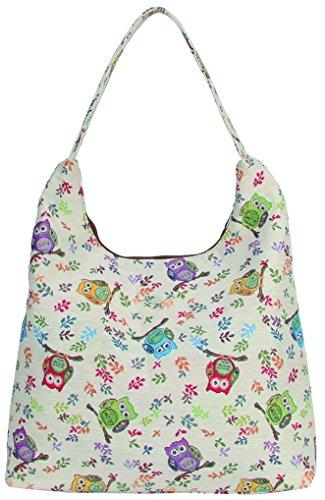 Signare besace sac d'épaule tapisserie mode femme Chouette