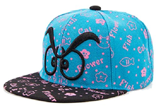Brille Stickerei Cap Baseball Kappe Hut (Blue Lake) (Kinder Brille Hut)