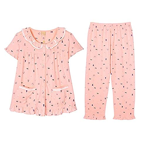 Slim, larger pure cotton sweet lovely spring and summer cotton quality homewear Kit Series L