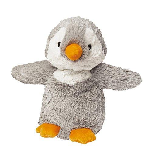 Warmies - Pingüino, peluche térmico, color gris (T-Tex 108)