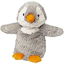 Warmies - Pingüino, peluche térmico, color gris (T-Tex 108)