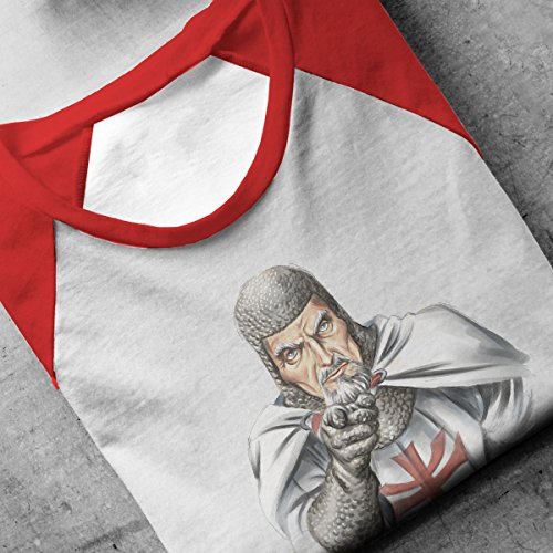 Indiana Jones Uncle Sam Choose Wisely Men's Baseball Long Sleeved T-Shirt White/Red