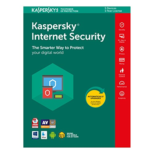 Price comparison product image KIS2018-5D1YUK Internet Security 2018 1 Year Subscription for 5 Devices