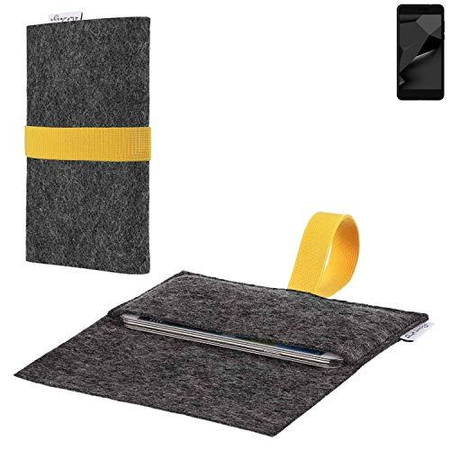 flat.design vegane Handy Hülle Aveiro für Blaupunkt SL Plus 02 passgenaue Filz Tasche Case Sleeve Made in Germany