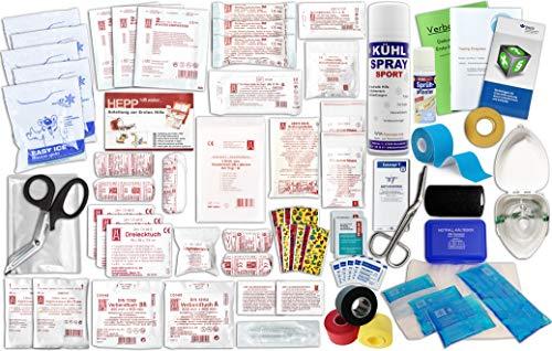 WM-Teamsport Komplettfüllung für den Sport-Betreuer-Trainerkoffer zur Behandlung von Sport-Verletzungen inkl. SPRÜHPFLASTER - Sport-verletzung Behandlung