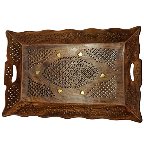 gift-your-mother-on-special-day-wooden-serving-tray-145x9-inch-tea-or-coffee-serving-tray-net-inlay-