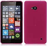 TBOC® Funda de Gel TPU Rosa para Nokia Microsoft Lumia 640 de Silicona Ultrafina y Flexible
