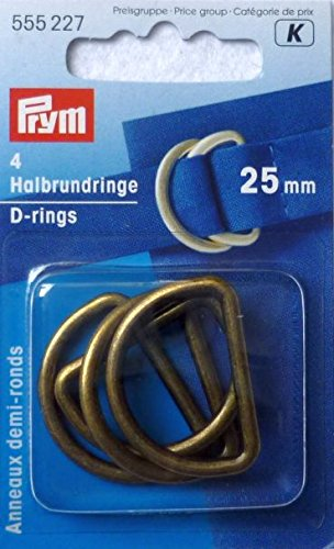 Prym D-Ring 25mm altmessing 4 Stück gebraucht kaufen  Wird an jeden Ort in Deutschland