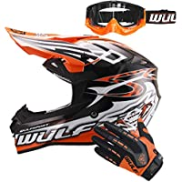 Wulfsport Sceptre Casco Moto Adulto del Motocross Naranja M (57-58cm) ECE 2205