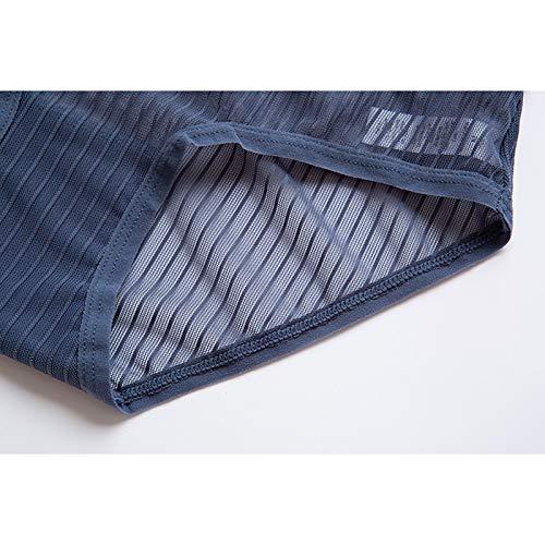 Haodou String mit Spitze Damen Unterhose Unterwäsche Reizvolle Wäsche durchsichtige Tanga G-Schnur Schlüpfer Damenwäsche Dessous (Blau-M) - 4
