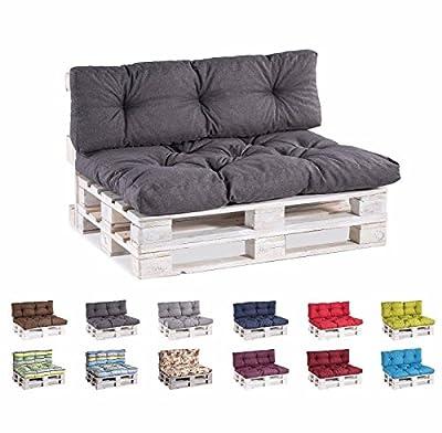 Palettenkissen Palettenauflagen Sitzkissen Rückenlehne Gesteppt von gutekissen auf Gartenmöbel von Du und Dein Garten