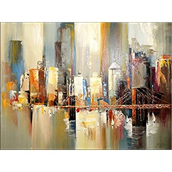 abstraktes bild new york gem lde colorful new york skyline martin klein. Black Bedroom Furniture Sets. Home Design Ideas