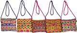 Exotic India Lot of Five Clutch Bags wit...