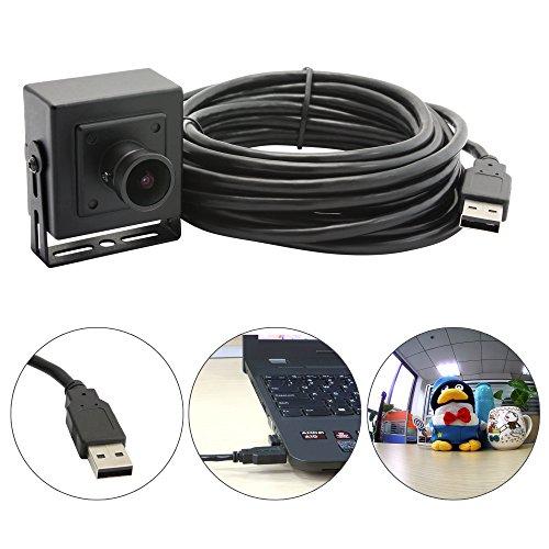 ELP-Kamera usb 2 Megapixel mit schwarzem Kasten für alle Arten von CCTV-Überwachungskamera-System, Bildverarbeitungssystem, Heim babay Monitor (170degree Fisheye Objektiv) (Webcam Outdoor Usb)