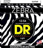 DR Zebra Electro/Acoustic Guitar Strings 12-54
