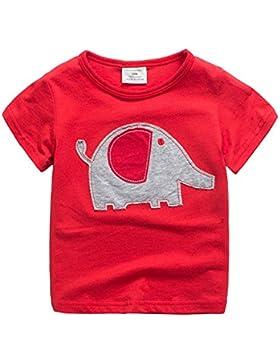 Lindo Animal Elefante Camisetas Niños 2-7 Años Manga Corta Unisex Ropa