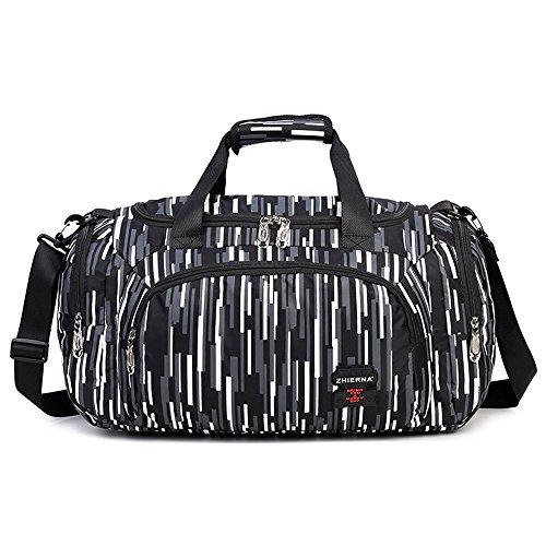 Neuleben Wasserabweisend Sporttasche Reisetasche für Sport Fitness Reise für Damen Mädchen Schwarz