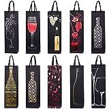 10 borse sacchetti di bottiglie, sacchetti regalo per vino, prosecco e champagne 40 x 12 x 9 cm - mix