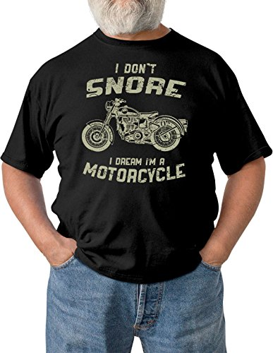 I Don't Snore I Dream I'm A Motorcycle Men's Black T-Shirt - Fire Bolt Clothing