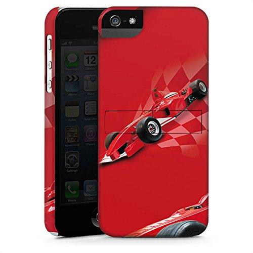 Apple iPhone 5s Housse Étui Protection Coque Formule 1 F1 Voiture de course CasStandup blanc