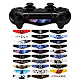eXtremeRate 30pcs/set LED Light Bar Decal Sticker Adesivo Decalcomanie per Playstation 4 PS4 Slim Pro Controller Colorato Skins