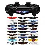 eXtremeRate 30 Stücke Stickers Light Bar Decal Aufkleber Sticker Skin Licht Bar Abziehbild für Playstation 4, Dualshock 4, PS4 Slim,PS4 Pro Kontroller