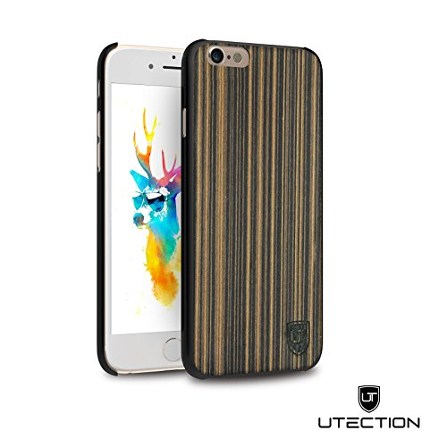 UTECTION Holzhülle Cover für Apple iPhone 6 Plus / 6s Plus ** Eco Echt Holz - Ultra-Slim ** Einzigartiges Desgin ** Perfekte Passgenauigkeit ** Woodcase in Pappelholz (Tech Armor Apple Iphone 6 Fall)